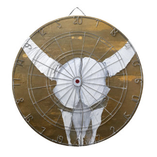 Textured Bull Skull Painting - Bully Dartboard