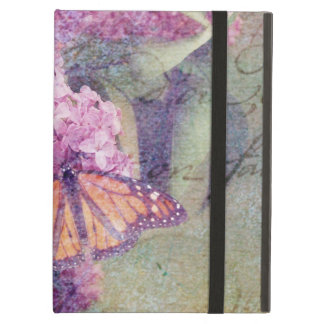 Textured Butterfly with Lilacs iPad Air Cover