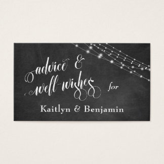 Textured Chalkboard, Lights Advice and Well-Wishes Business Card