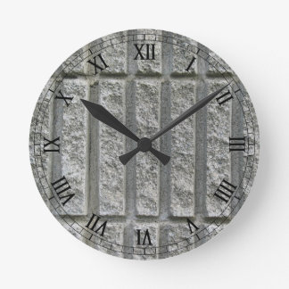 Textured Concrete Round Clock
