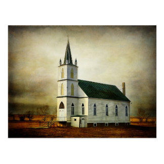 Textured Country Church Postcard