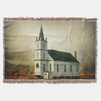 Textured Country Church Throw Blanket