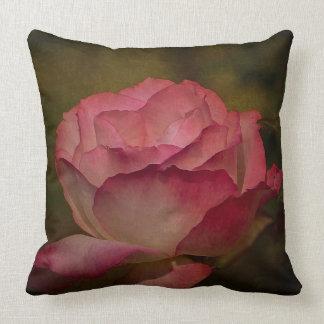 Textured Deep Pink Rose Throw Pillow