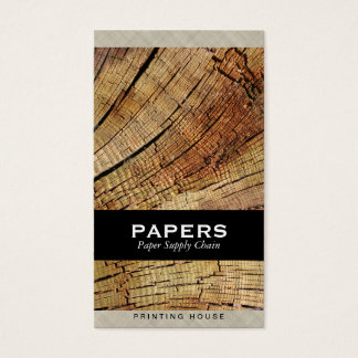 Textured Fabric with Wood Cut Business Card