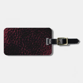 Textured Faux Leather Grape Smoke Style Design Luggage Tag