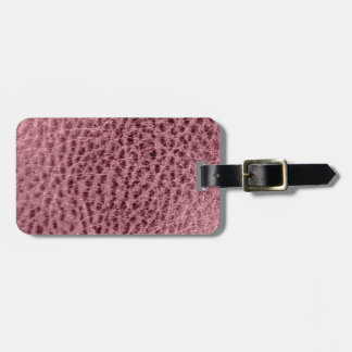 Textured Faux Leather Pink Smoke Style Design Luggage Tag
