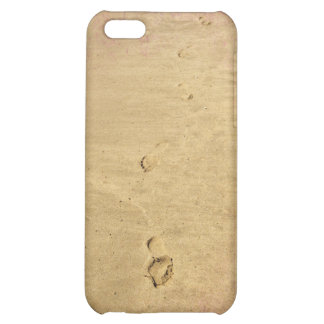 Textured footprints in the sand case for iPhone 5C