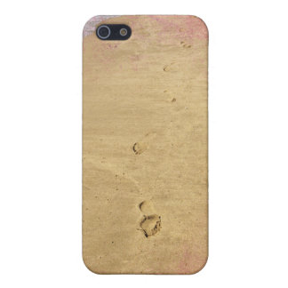 Textured footprints in the sand case for iPhone 5/5S