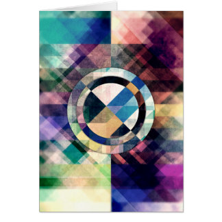 Textured Geometric Shapes Card