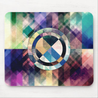Textured Geometric Shapes Mouse Pad
