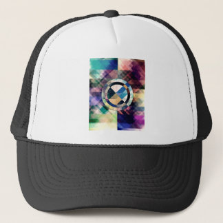 Textured Geometric Shapes Trucker Hat