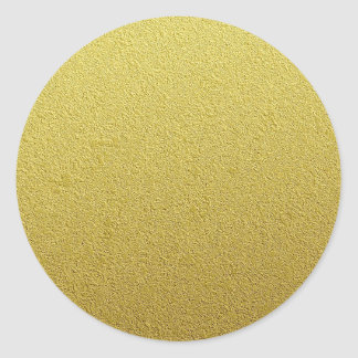 Textured Gold Foil Look Classic Round Sticker