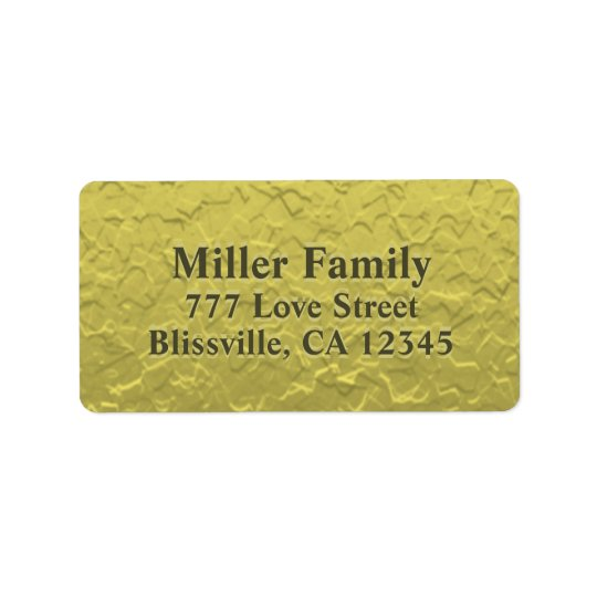 Textured Gold Foil Look Label