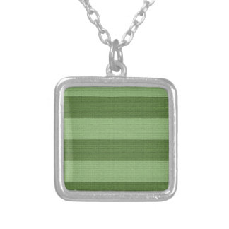 Textured Green Stripes Pattern Necklace