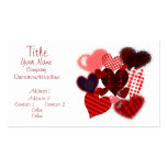 Textured Heart Collage Double-Sided Standard Business Cards (Pack Of 100)