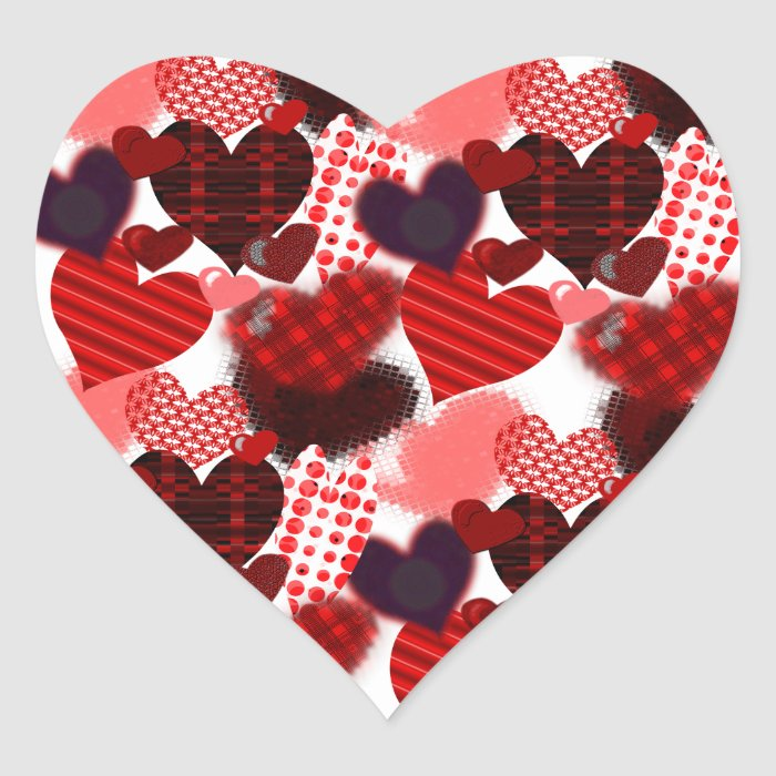 Textured Heart Collage Heart Sticker