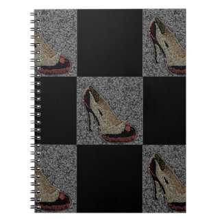 Textured High Heels Notebook