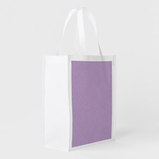 Textured Light Purple Color Reusable Grocery Bag