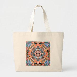 Textured Mandala Pattern Large Tote Bag