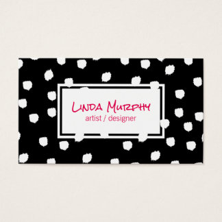 Textured Marks (white) / Expressive Business Card