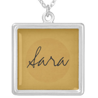 Textured Monogram Silver Plated Necklace