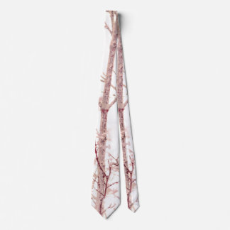 Textured Nature Print Tie