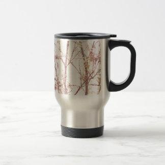 Textured Nature Print Travel Mug