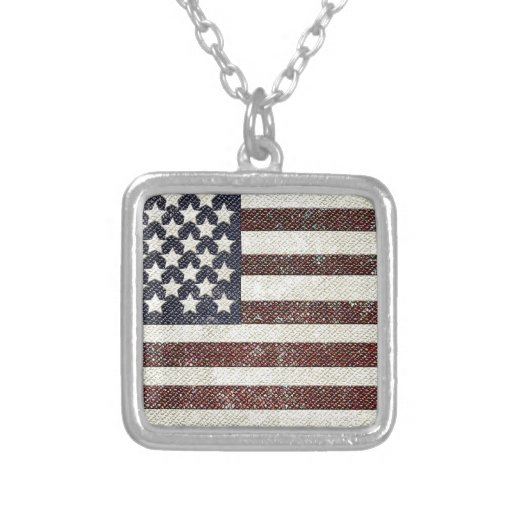 Textured old style American flag Custom Jewelry