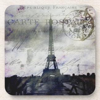 Textured Paris in Lavender Cork Coaster Set