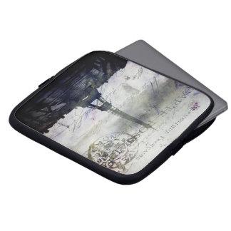 Textured Paris in Lavender Laptop Bag