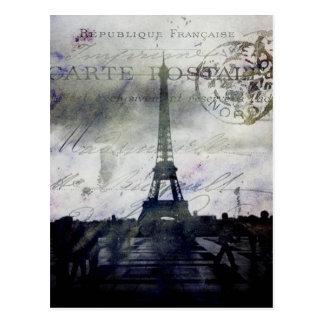 Textured Paris in Lavender Postcard