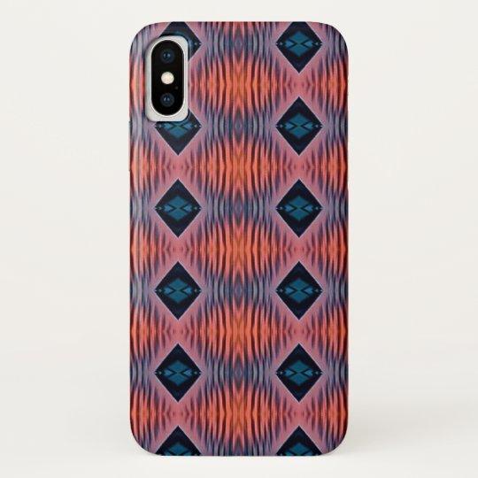 Textured Peach Blue Modern Tribal Pattern Galaxy Nexus Cover