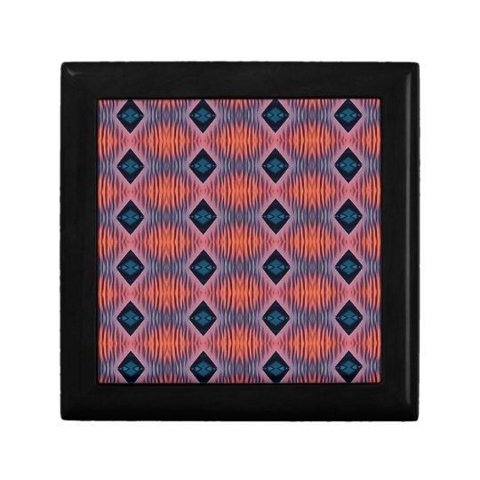 Textured Peach Blue Modern Tribal Pattern Gift Box