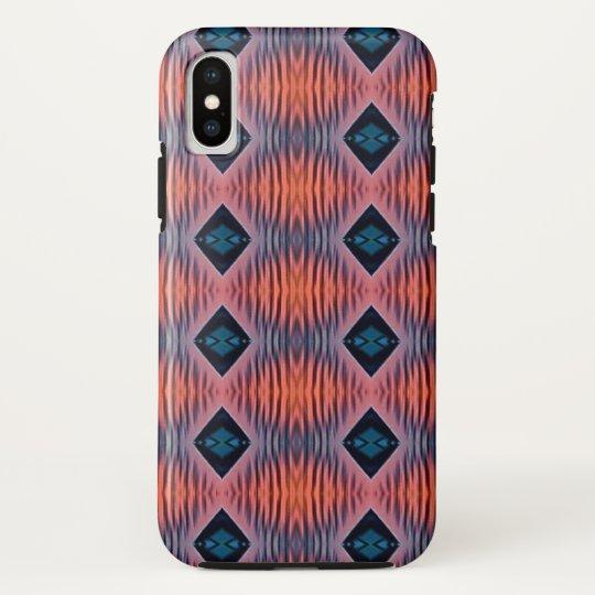 Textured Peach Blue Modern Tribal Pattern HTC Vivid / Raider 4G Cover