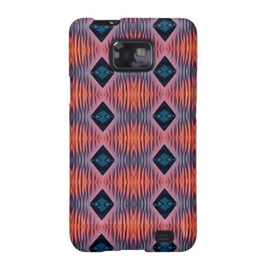 Textured Peach Blue Modern Tribal Pattern Samsung Galaxy S2 Cover