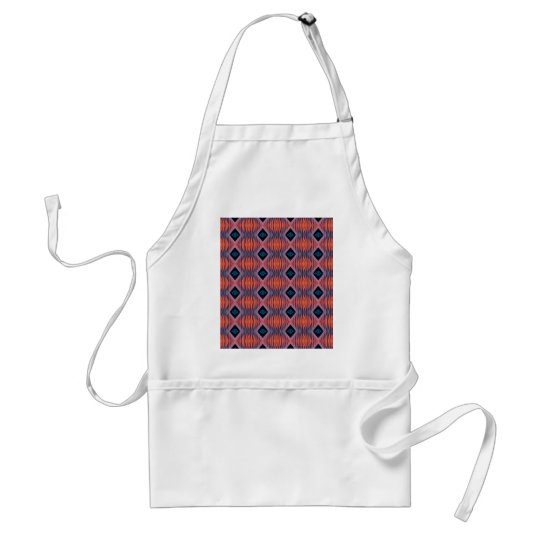Textured Peach Blue Modern Tribal Pattern Standard Apron