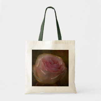 Textured Pink Rose Tote Bag