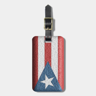 Textured Puerto Rican Flag Luggage Tag