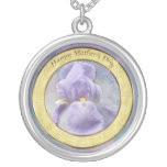 Textured Purple Iris Mother's Day Necklace