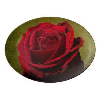 Textured Red Rose Platter
