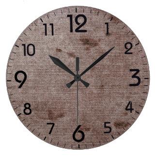 Textured retro grunge pattern large clock