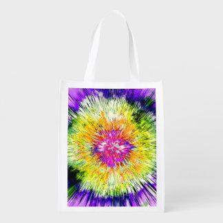 Textured Retro Tie Dye Reusable Grocery Bag