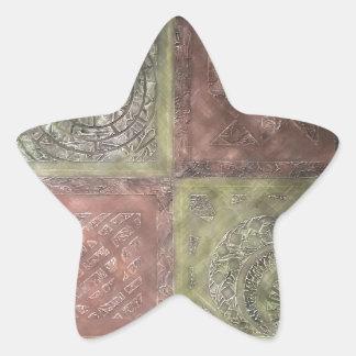 Textured Squares Star Sticker