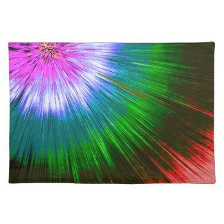 Textured Starburst Tie Dye Placemat