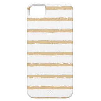 Textured Stripes Beige White  Rough Lines Pattern iPhone 5 Cover
