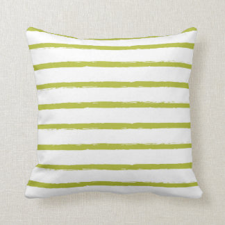 Textured Stripes Lines Chartreuse Green Modern Cushion