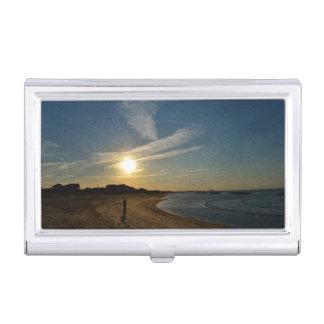 Textured Sunset Business Card Holder