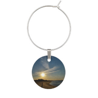 Textured Sunset by Shirley Taylor Wine Charm