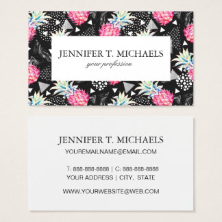 Textured Triangle Pineapple Pattern Business Card