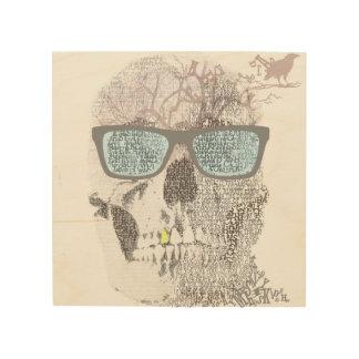 Texty Skull Wood Wall Art